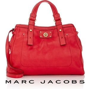NEW Authentic Leather Marc Jacobs Lucy Satchel